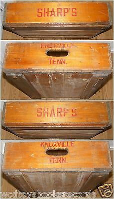 Vintage Knoxville Tennessee Sharp's Drugstore Wooden Delivery Crate 1940s Rare
