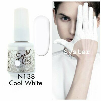 SYSTER 15ml Nail Art Soak Off Color UV Gel Polish N138 - Cool White