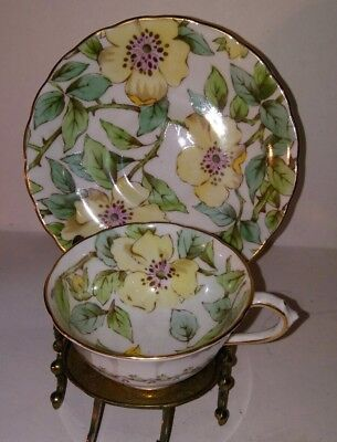 BEAUTIFUL TUSCAN Large Floral CUP AND SAUCER bone china england