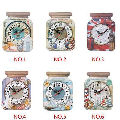 Artistic Silent Creative European Style Round Antique Wooden Home Wall Clock