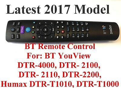 NEW BT YouView Remote Control RC3124705/01B Latest 2017 Model UK Seller