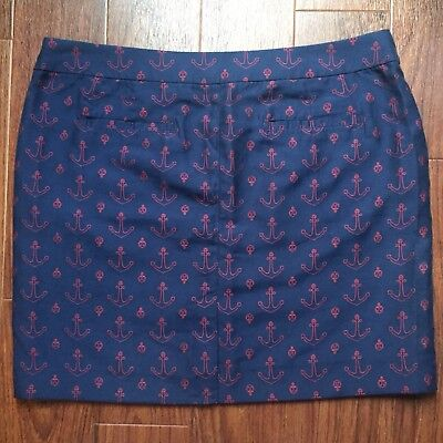 0ef9ee2b12 TOMMY HILFIGER Women's Navy Blue Red Anchor Nautical Pencil Skirt 14 PLUS  SIZE