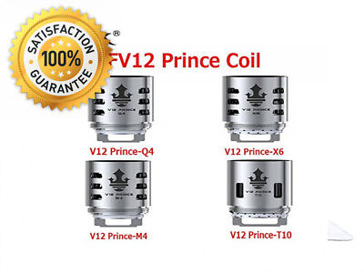 Authentic SMOK TFV12 Prince-Q4 Quadruple Coil for Prince Tank - 0.4 Ohm