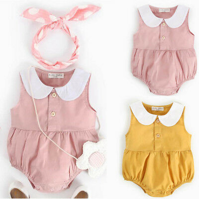 Toddler Newborn Infant Baby Kids Girls Summer Print Rompers Outfits Clothes