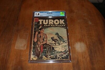 Four Colors 596 CGC 1.8 Off-White Pages 1st Turok, Son of Stone