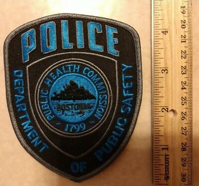 MA Massachusetts Boston Public Health Commission Police Patch Bostonia