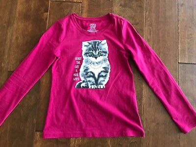 Girls Faded Glory Long Sleeve Crimson Top T-shirt Size 10-12