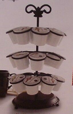 Longaberger Baskets Wrought Iron Beverage Cup Carousel Mib Ready To Assemble
