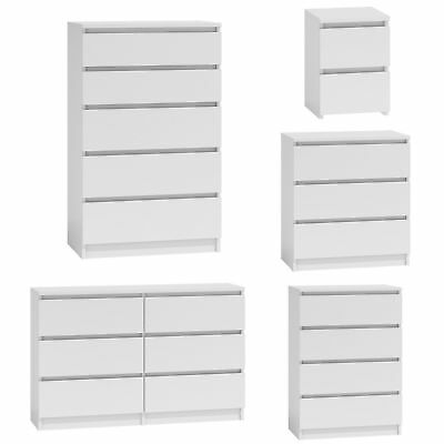 MODERN - White Chest Of Drawers And Bed Side