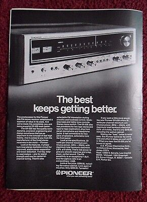 1974 Print Ad Pioneer SX-535 AM-FM Stereo Receiver ~ Best Keeps Getting Better
