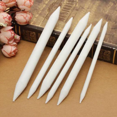 6PCs Blending Smudge Tortillon Stump Sketch 6 Sizes Art Drawing Tool Pastel