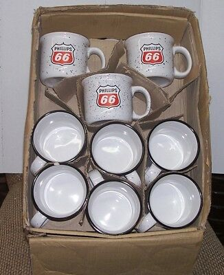 Phillips 66 Coffee Mug, New Cup, 3 Collectible, Vintage Gas Sign Advertisement