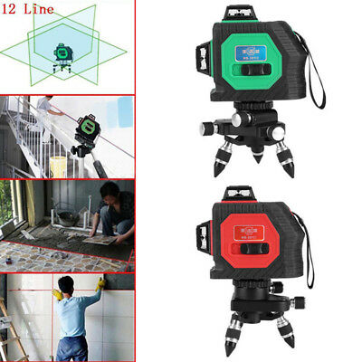 3D Laser Level Self Auto Leveling  360 ° Rotary 12 Lines Horizontal Vertical CS