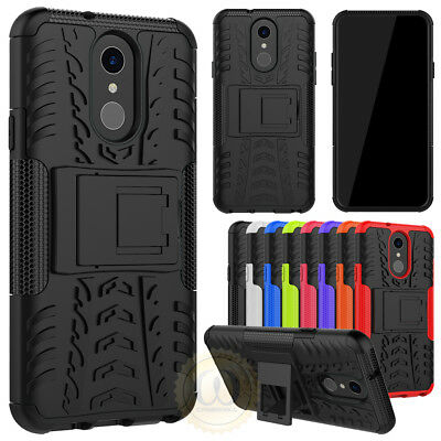 For LG Q7 Plus (2018) Case Shockproof Protection Rugged Armor Kickstand Cover