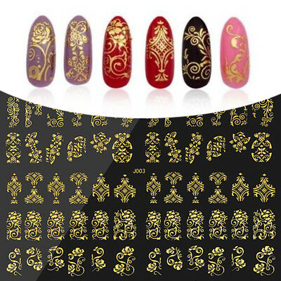 108pcs 3D Flower Nail Art Water Transfer Stickers Tips Decals DIY Decoration