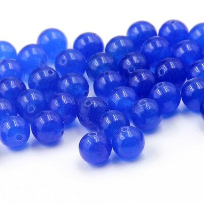 180Pcs Blue Gemstone Beads Finding For Jewelry Making