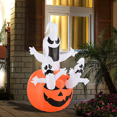 6ft Halloween Ghosts Inflatable Pumpkin Jack O Lantern Yard Decorations Airblown