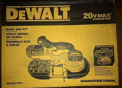 DEWALT DCS371P1 20V MAX Lithium Ion Band Saw Kit  with 5.0 Ah XR Battery