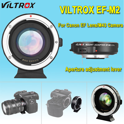 Viltrox EF-M2 Auto Focus Lens Mount Adapter 0.71X for Canon EF Lens to MTF M4/3