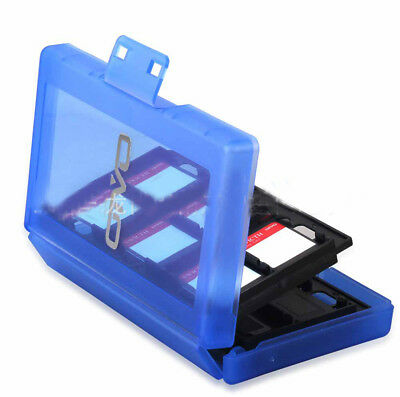 For Nintendo Switch NS Blue 24 IN 1 Game Card Storage Protective Hard Case Box