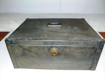 ANTIQUE 1800's YALE STEEL METAL STAGECOACH STRONG-BOX SAFE: RAILROAD TRAIN VAULT