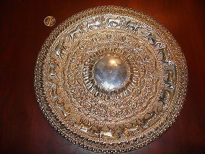 Amazing Antique/Vintage Sterling Silver Hand Crafted 3D Dish.925 Repoussed.170g