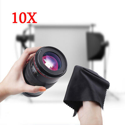 """10pcs 6"""" Microfiber Cleaner Cleaning Cloth For Screen Camera Lens Eye Glasses"""