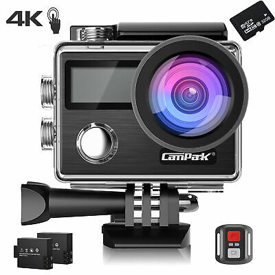 32GB Campark 4K Touch Screen Sports Action Camera WiFi HD 1080P 20MP Waterproof