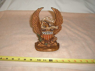 Cast Iron Eagle Figurine