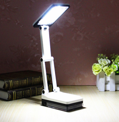 Bright Portable Folding 17 LED Reading Light Rechargeable Table Study Desk Lamp
