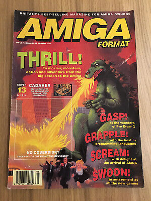 Amiga Format magazine - August 1990 - issue 13 - no cover disk