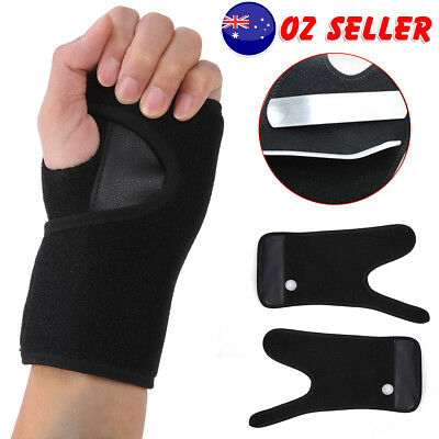 Steel Wrist Support Splint Carpal Tunnel Syndrome Sprain Strain Bandage OZ