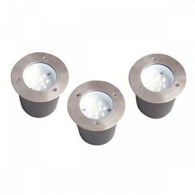 3 Pack Outdoor Integrated LED IP44 Decking Spotlight Kit Clearance Litecraft