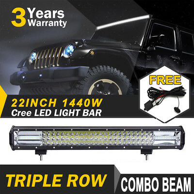 22inch CREE LED Light Bar Spot Flood Driving Lamp Offroad 4WD 4x4 Truck JEEP SUV