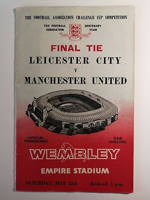 1963 FA Cup Final Leicester City v Manchester United Official Programme  25/5/63