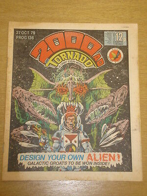 2000Ad #136 British Weekly Comic Judge Dredd Oct 1979 *