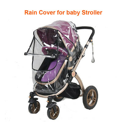 Universal Rain Cover Pushchair Buggy for Baby Pram Wind Shield Protector