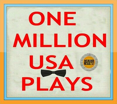 1 MILLION USA ORGANIC NON DROP SC PLAY/S DONE IN 7 DAYS + Special Bonus FREE 100