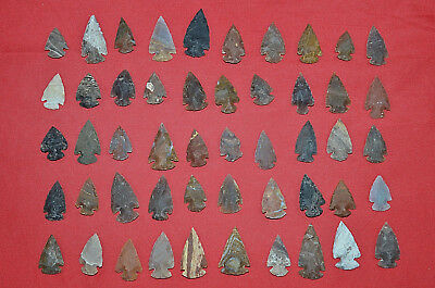 "5,000 PC 1"" Lot Flint Arrowhead OH Collection Project Spear Points Knife Blade"