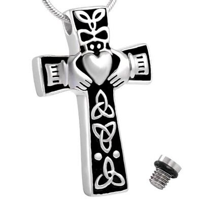 Cremation Jewellery Ashes Cross Urn Pendant Keepsake Memorial Necklace Locket Uk