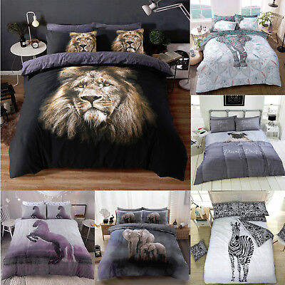 Luxury 3D Animal Printed Duvet Quilt Cover With PillowCases Bedding Set All Size