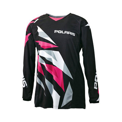 Polaris Youth Black Pink Fly Racing Off Road Mesh Jersey Sizes S-3X OEM