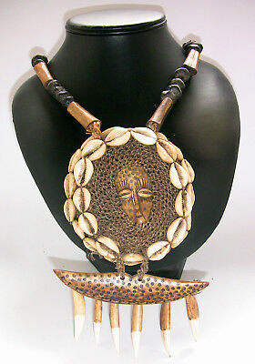 African Cowrie Shell and Pendant Necklace