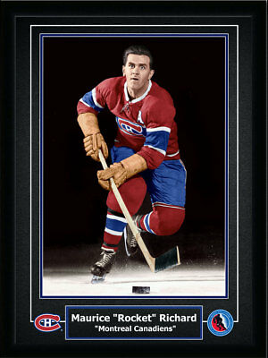 "Maurice ""Rocket"" Richard Montreal Canadiens 12x16 Frame"