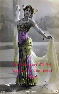 Old VINTAGE Antique Beautiful Hand Tinted BELLY DANCER Photo REPRINT