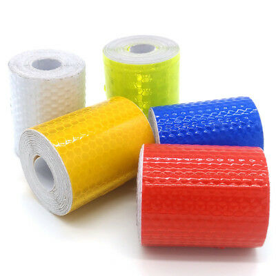 3m Car Safety Warning Reflective Tape Roll Film Reflector Sticker Decal UK