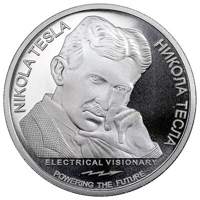 2018 Serbia Nikola Tesla - Alternating Current 1 oz Silver BU SKU55104