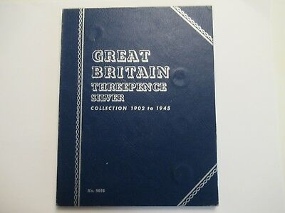 19 Great Britain silver 3 Pence, dated btwn 1902 & 1940, Whitman Folder