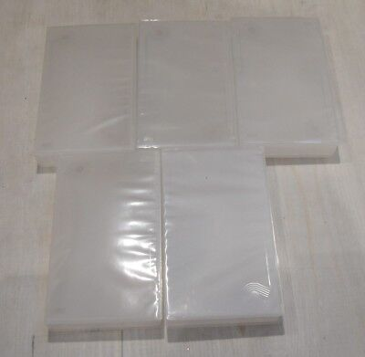 BRAND NEW - 5 x EMPTY CLEAR SINGLE VHS VIDEO BOXES BOX REPLACEMENT  CASE CASES