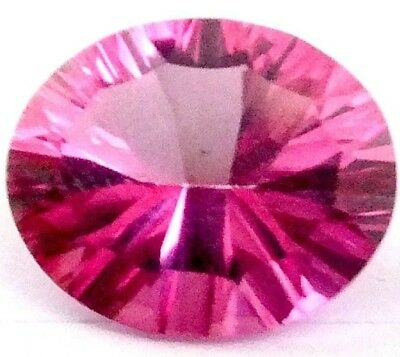 NATURAL PINK TOPAZ LOOSE GEMSTONES 12 x 10 mm  AMAZING OVAL CONCAVE CUT TOPAZ
